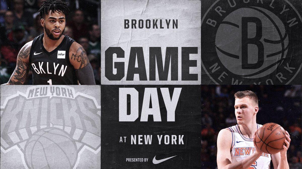 Brooklyn Nets at New York Knicks 1-30-18 Graphic