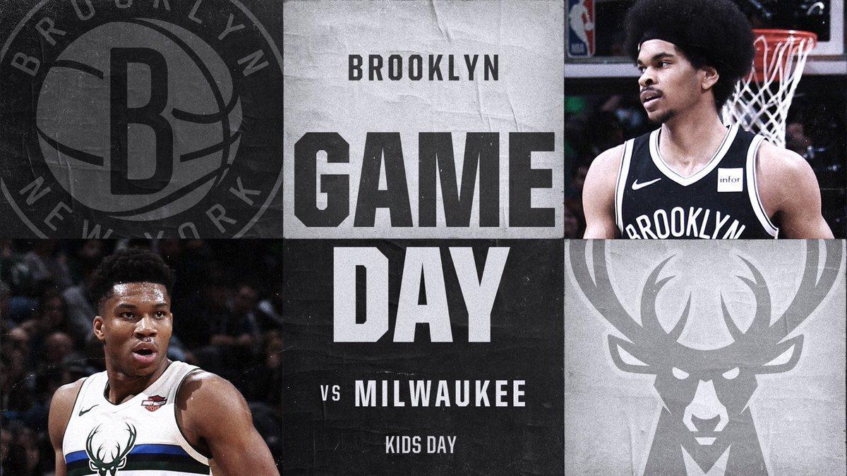 Brooklyn Nets vs Milwaukee Bucks 2-4-18 Graphic