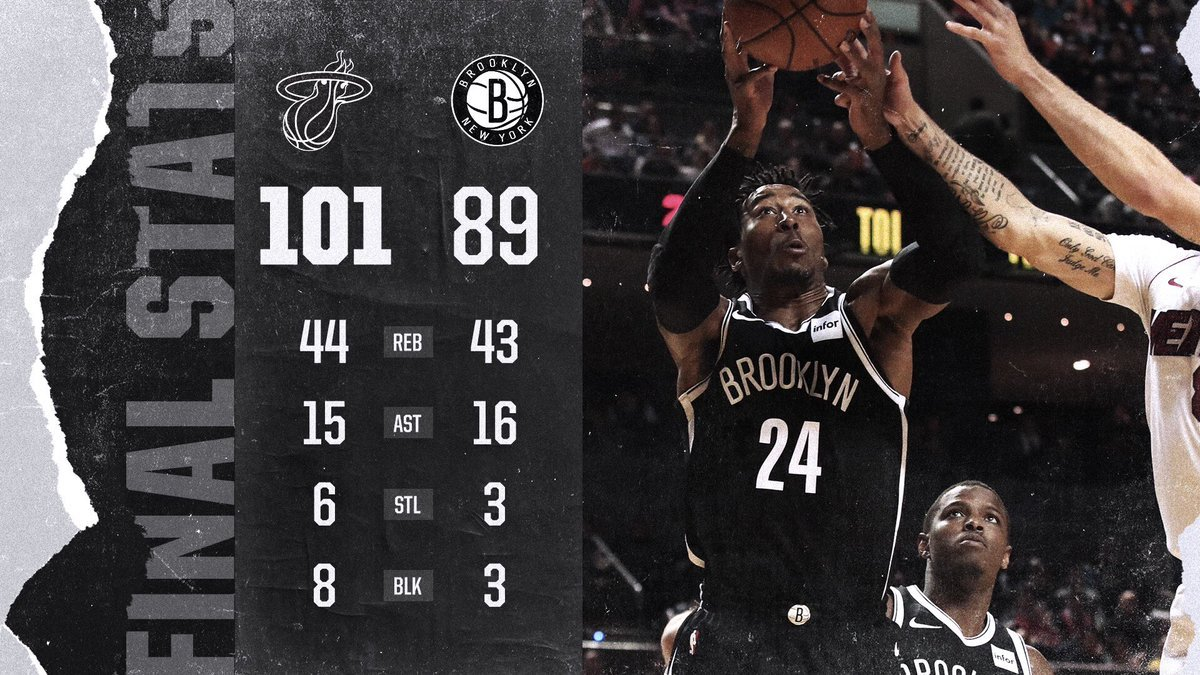 Nets vs Heat 12-9-17 Stats