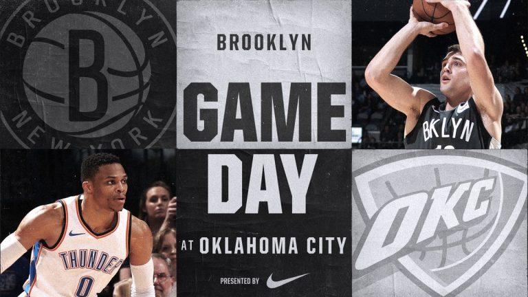 Brooklyn Nets at Oklahoma City Thunder 1-23-18 Graphic